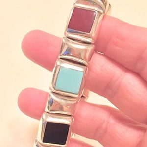 Jewelry - BRACELET💎turquoise, silver, black, reddish stones
